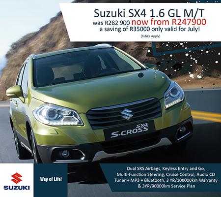 Suzuki SX4 pop up ad